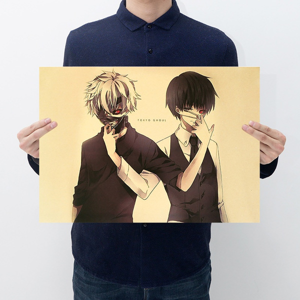 Japanese Anime Tokyo Ghoul Kaneki Ken Wall Poster Wall Decals Kraft Paper Poster