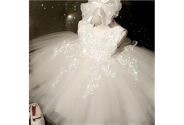 Baby Girls Princess Dress Children Summer Clothes Girl Lace Tutu Wedding Flower Girl Dresses Baby Girl Baptism Clothing