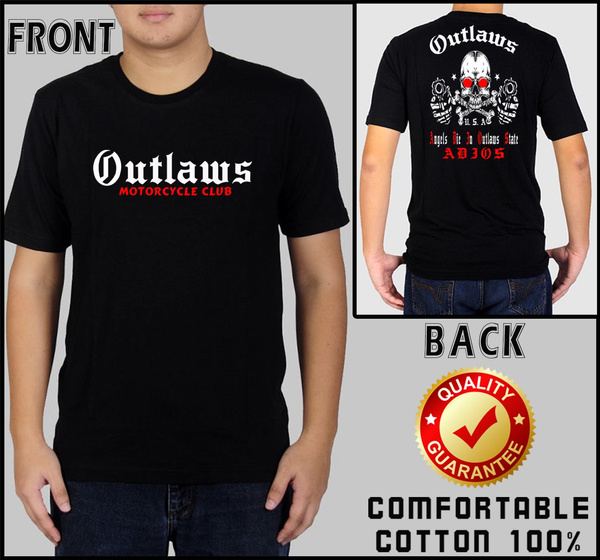 Outlaws MC T Shirt Black