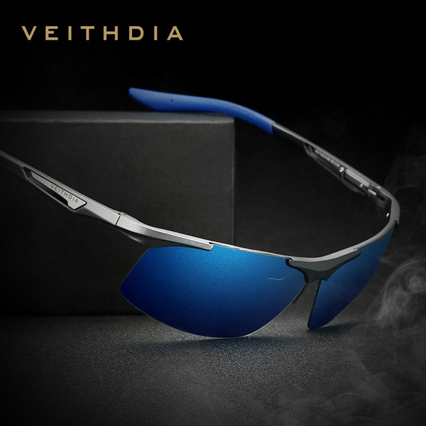 Aluminum Magnesium Sunglasses Polarized Coating Mirror Glasses Eyewear Accessories For Men Black