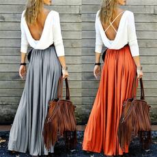 long skirt, summer skirt, chiffon, Pastels