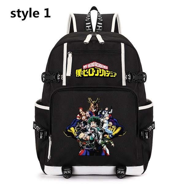 My Hero Academia Midoriya Izuku Print Backpack Canvas Knapsack Boys Schoolbag