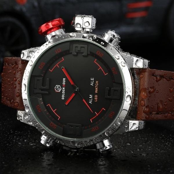 diseño de calidad 414a2 aa7c0 Hot Reloj Multifunción Para Hombre Reloj Deportivo Reloj Para Hombre Reloj  Para Hombre Reloj Para Regalar Relojes Informales Reloj Led Reloj Digital  ...