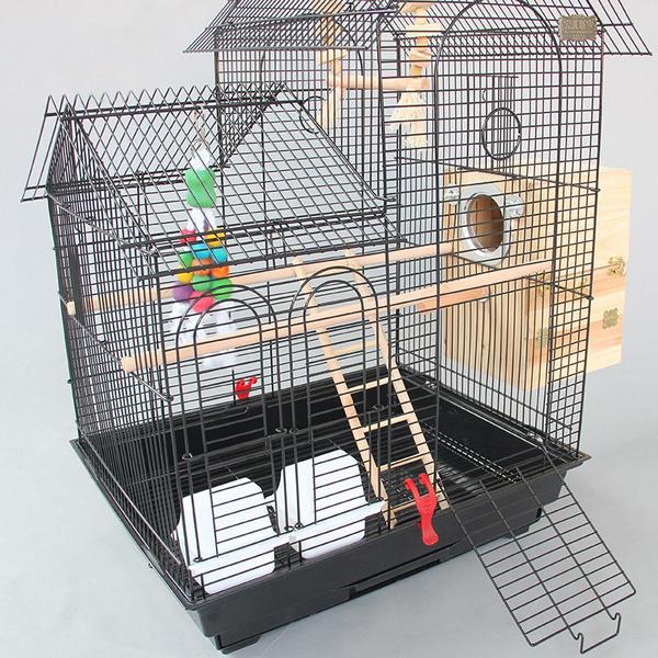 8485bc52c Large Roof Design Bird Cages Houses Metal Iron Parakeet Cockatiel ...