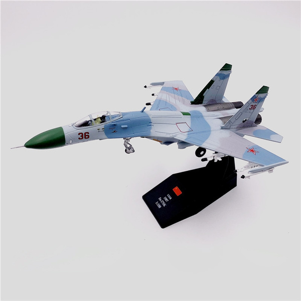 1 100 Scale Military Model Soviet Air Force Su 27 Fighter Aircraft