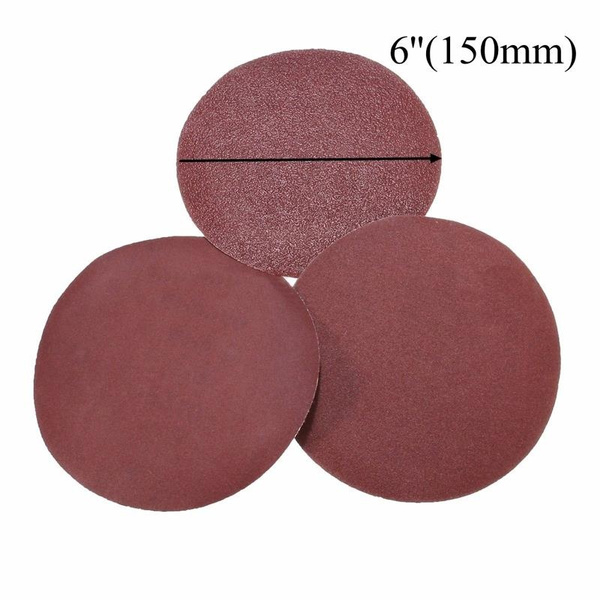 150mm Self Adhesive Aluminium Oxide Sanding Discs Packs of 20 60 Grit