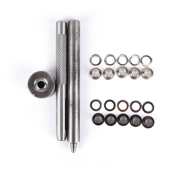 1x eyelet tool set grommet kit 100 eyelets for diy kydex sheath huning partA LL