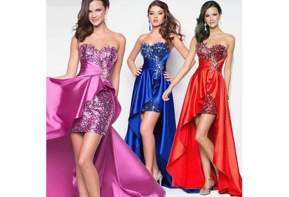 Vestiti Cerimonia Wish.Christmas Hot New Fashion Plus Size Women Evening Dress Short