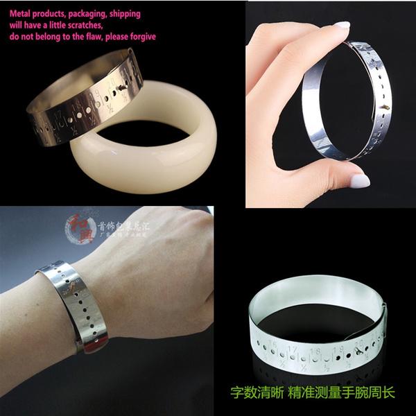 Metric Bangle Bracelet Hand Wrist Metal Sizer Gauge Measure Sizing 150-230mm·