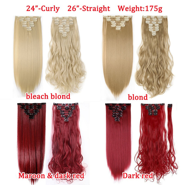 Wish 24 26 8 Piece 18 Clips In Hair Extensions Silky Soft Heat