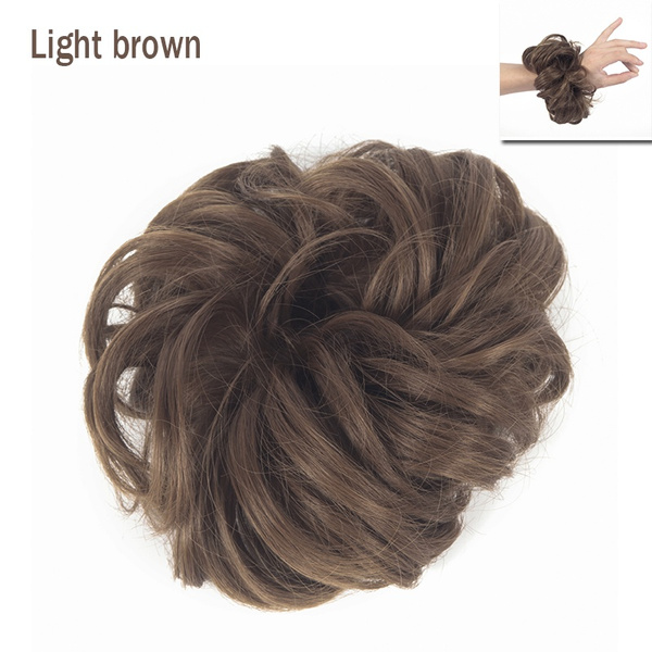 Home 1pc Stylish Messy Hair Chignon Elastic Hair Rope Synthetic