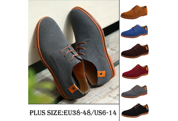 Fashion Men's Pointed Toe Business Shoes Wedding Shoes Bright Lace Up Casual Shoes Plus Size 38-48