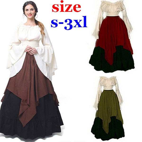 Wish Plus Size Xs 3xl Womens Renaissance Medieval Costume Dress