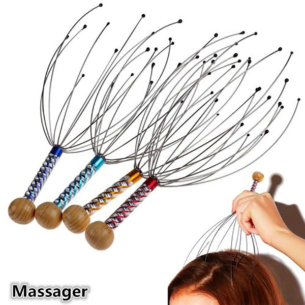 Kopf Hals Kopfmassagegerät Massage Octopus Ausrüstung Stress Release Entspannen^
