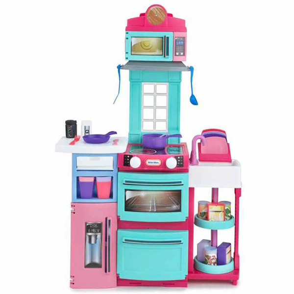Little Tikes Cook \'n Store Kitchen Pretend Play Cooking Toy Set for Kids,  Pink
