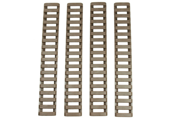 Black 4 Heat Resistant Rifle Handguard Weaver Picatinny Ladder Rail Cover