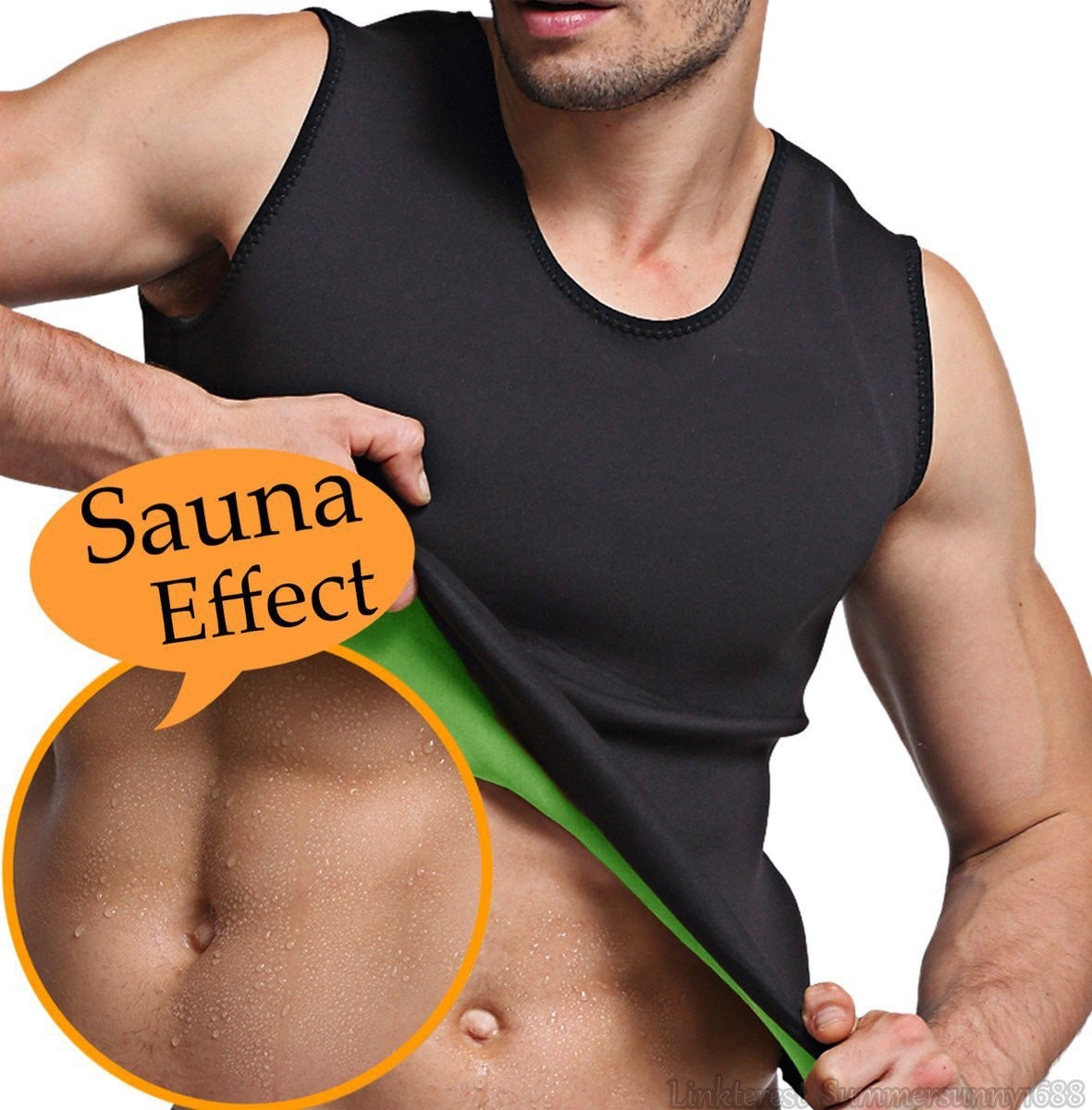8a78183efd 2019 Hot Men Sport Fitness Gym Sauna Sweat Suit Body Shaper Belly ...