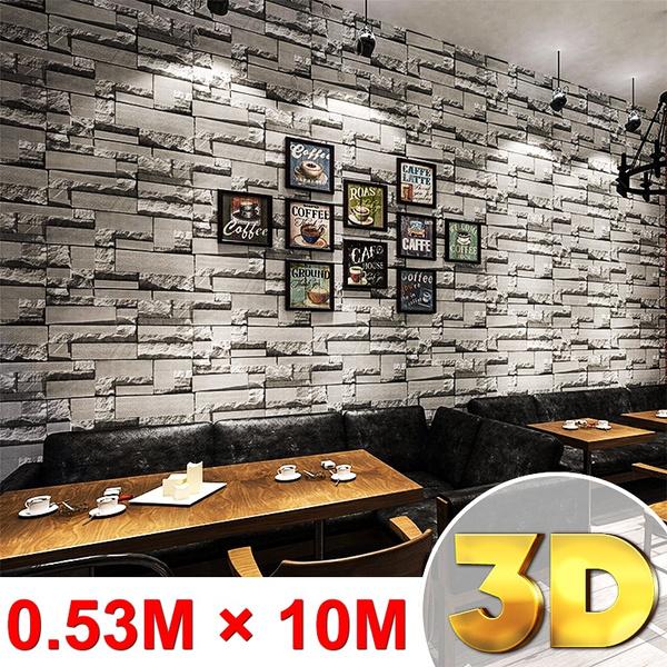bricksticker, wallstickersampmural, Decor, art