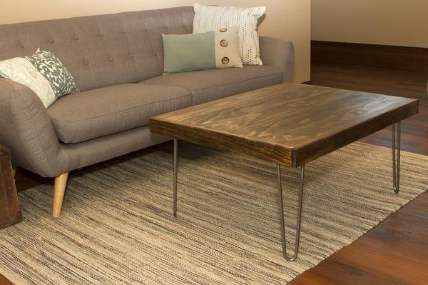 Wish 7penn Hairpin 16 Inch Silver Raw Steel Metal Furniture Coffee Table Legs 4 Pack