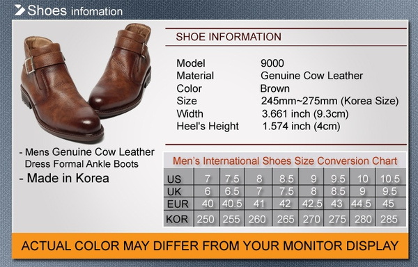 Mens Shoes Leather Korea Dress Formal Chelsea Buckle Ankle Boots