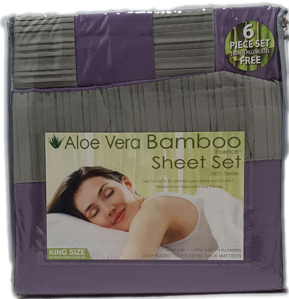 Wish King Or Queen Aloe Vera Bamboo Sheet Set 1800 Count Choose
