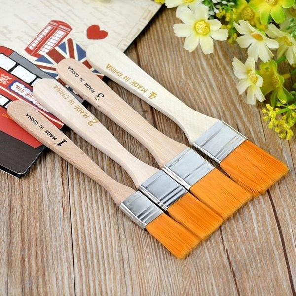 Art Supplies, oilpaintingbrush, artist, Wooden