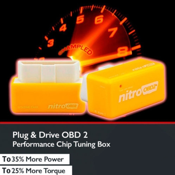 Sel-More OBD2 Plug and Drive Performance Chip Tuning Box for Gasoline Benzine Petrol Cars Power Torque Fuel Optimization