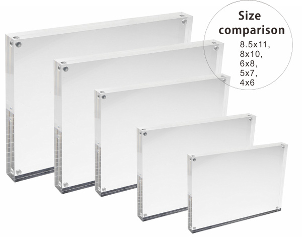 Geek | 4x6 5x7 6x8 8x10 8.5x11 Acrylic Magnetic Picture Frame, Clear ...