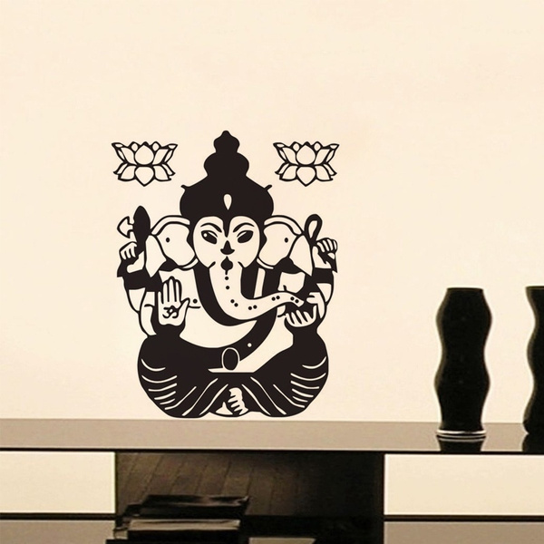 Indian Lord Ganesha Wall Sticker For Home Vinyl Wall Art Home Decoration Accessories Wall Decals
