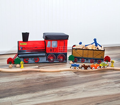 Wish   Orbrium Toys Train Shaped Collapsible Toy Storage Bins Organizer For  Thomas Wooden Train And Trackmaster, Etc.