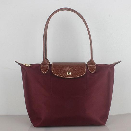 202ee3d38f218 Longchamp Le Pliage Small Nylon Tote Bag Wine 2605089009