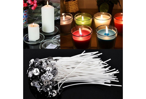 50pcs Wick Candles Cotton with Holders For Candle Making 15cm
