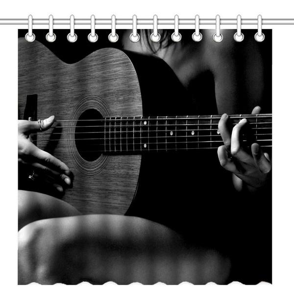 Wish Home Decor Shower Curtains Music Lovers Guitars Art Design