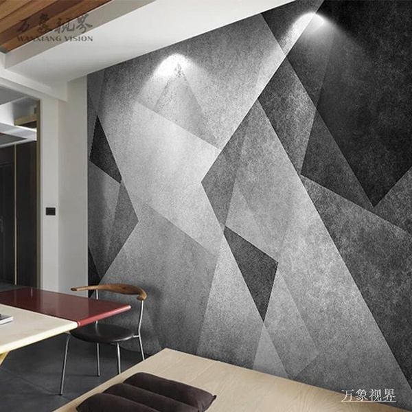 Nordic Style Wallpaper Modern Minimalist Abstract Creative Black And White Geometric Wallpaper Murals Living Room Tv Background Wall Covering