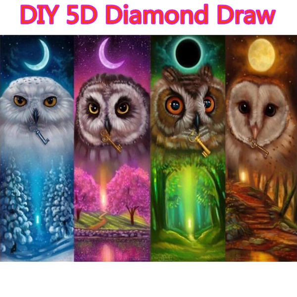 crossstitch, Owl, Decor, DIAMOND