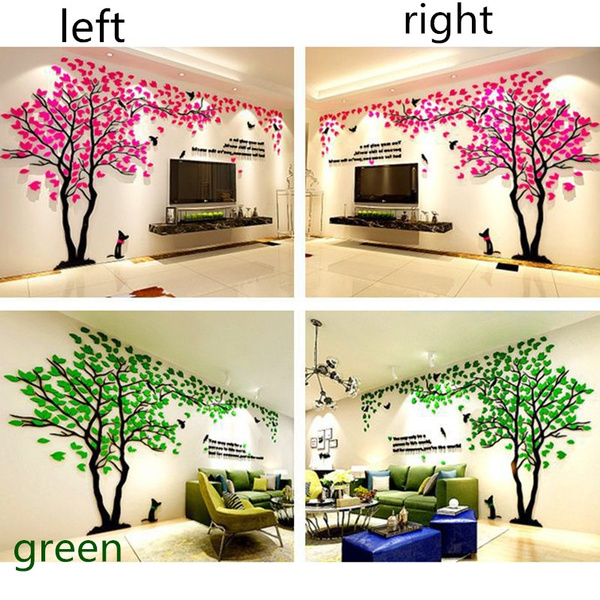 Wish | 3D Fashion Tree Wall Murals for Living Room Bedroom Sofa ...