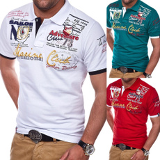 Slim Fit, Cotton T Shirt, golf  shirts men, Shirt