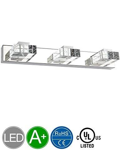 SOLFART Crystal Wall Mirror Vanity Light Fixtures For Bathroom LED Vanity Lights