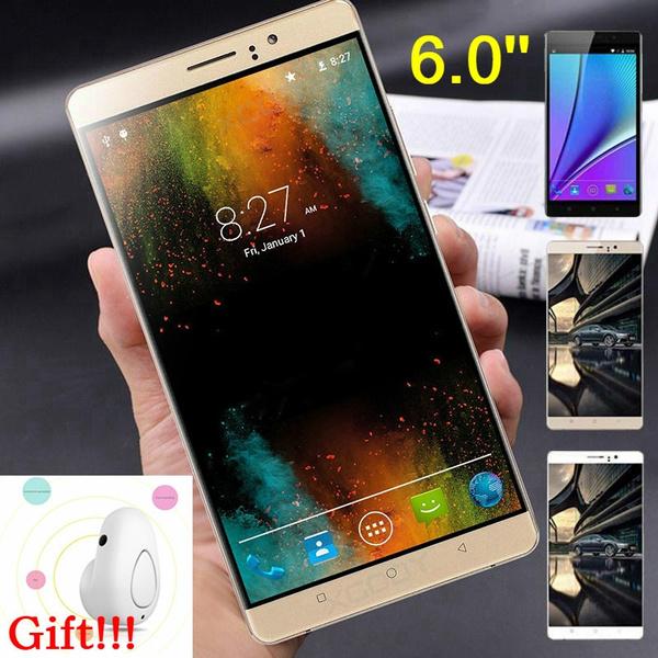 Jiake RAM 4GB RAM 128GB Android 6 0 Smart Phone 6 0 Inch Octa Core Dual Sim  Camera Straight Talk Phone (Free Gift White Bluetooth Earphone)