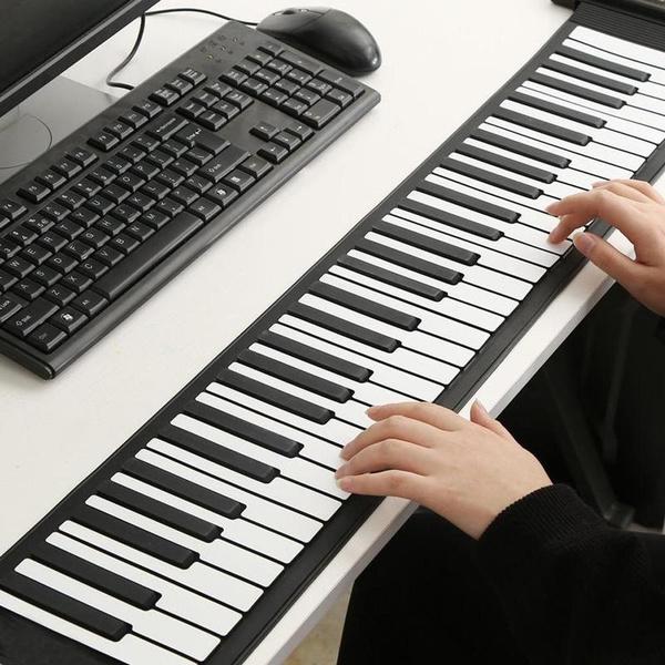 Portable Roll-Up 61 Key Soft Keys Flexible Electronic Piano Music Keyboard