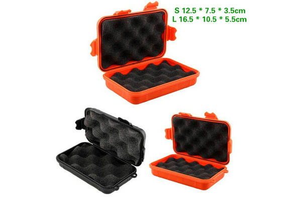2 Sizes Outdoor Plastic Waterproof Airtight Survival Case Container Storage  Jx