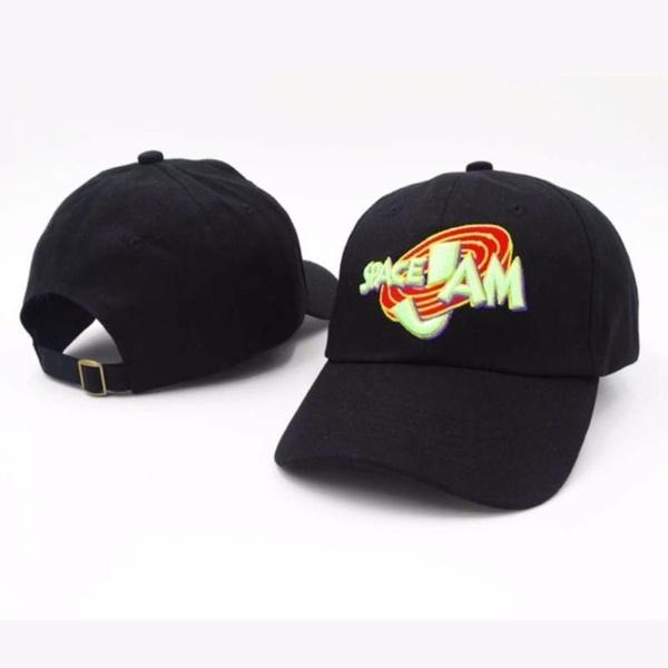 837f5f9f3aa New Popular Jordans Space Jam Baseball Cap Fashion Curved Chapeau Dad Hats  Casquette Snapback Hip Bone Men Women