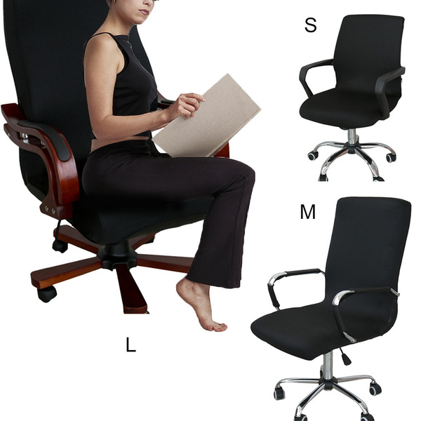 Wish | Siamese Office Chair Cover Swivel Chair Computer Armchair Protector  Executive Task Slipcover Internet Bar Back Seat Cover