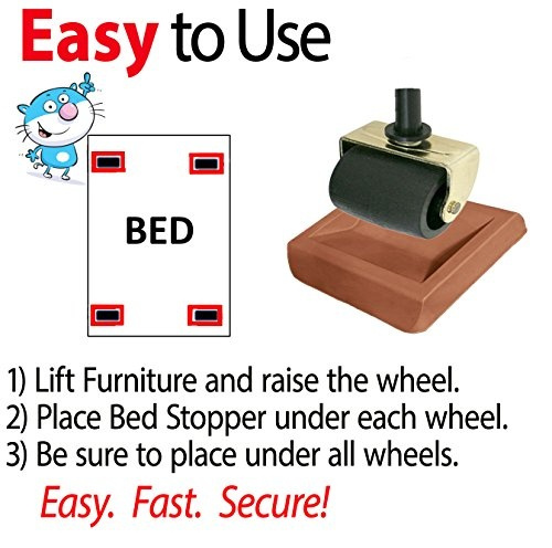 Wish | Newest Bed Stopper U0026 Furniture Stopper. Caster Cups, Fits All Wheels  Furniture, Floor Protector Bed. Keeps Bed From Sliding, Bed Caster Stopper.