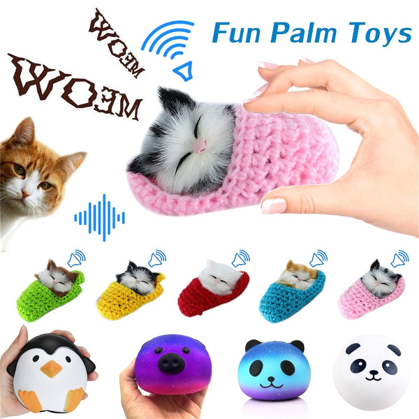Fuuny Lifelike Kids Toys Cute Plush Small Cat Soft Doll Simulation Sound Toys