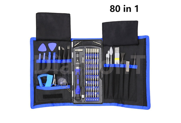 80 in 1 Precision Screwdriver Set with Magnetic Driver Kit, Professional Electronics Repair Tool Kit with Portable Oxford Bag for Repair Cell Phone, Watch, Tablet, PC and More