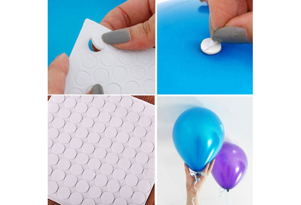 200 Points Balloon Attachment Glue Dot Attach Balloons to Ceiling or Wall Balloon Stickers Birthday Party Wedding Dress