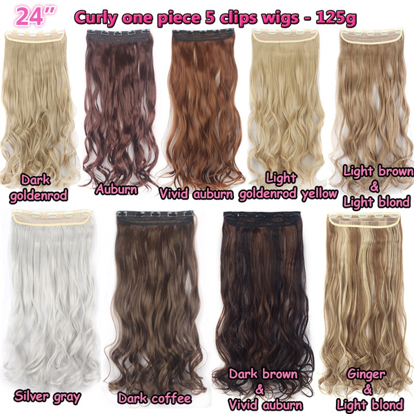 Geek Women Long Straight Clip In Hair Extensions One Piece 5 Clips