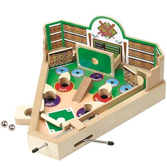 Classic Wooden Mini Pinball Game Baseball Pinball Machine Game