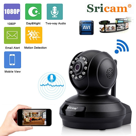 Sricam 1080P Wireless IP Camera HD 2.0MP Home Security CCTV WiFi Baby Monitor